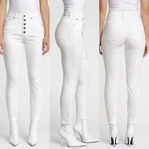 NWT PISTOLA Aline White High Rise Skinny Jeans 33